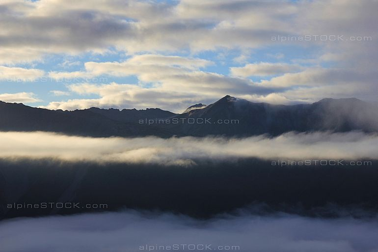 Morning scene in the Southern Alps