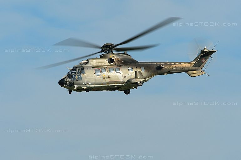 Eurocopter AS532UL Cougar Mk1 T-340 Air14 Inflight