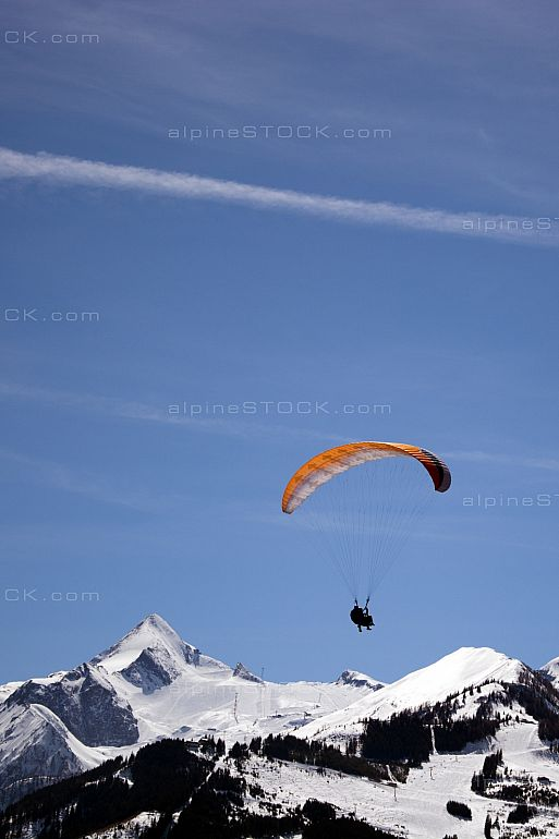 Paraglider in Front of the Peak of the Kitzsteinhorn