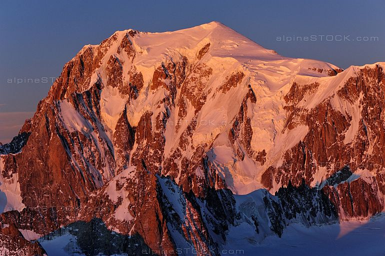 Mont Blanc Morgenlicht morning light