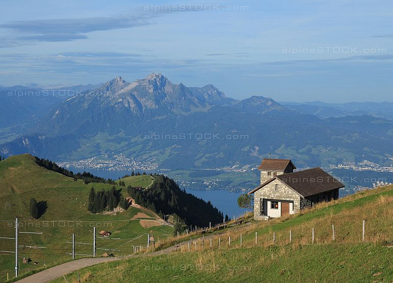 Little chapel on the Rigi Kulm and Pilatus