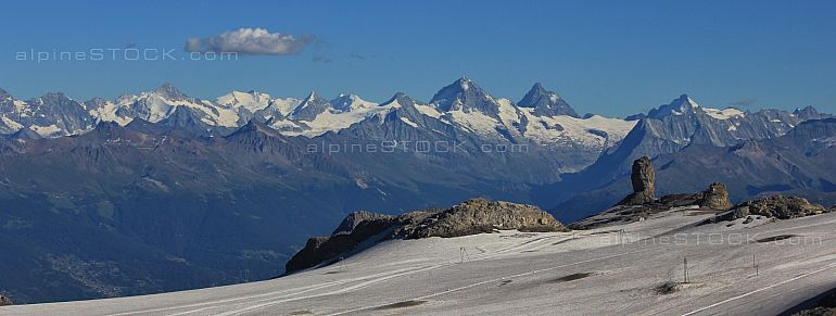 View from the Glacier de Diablerets summit station