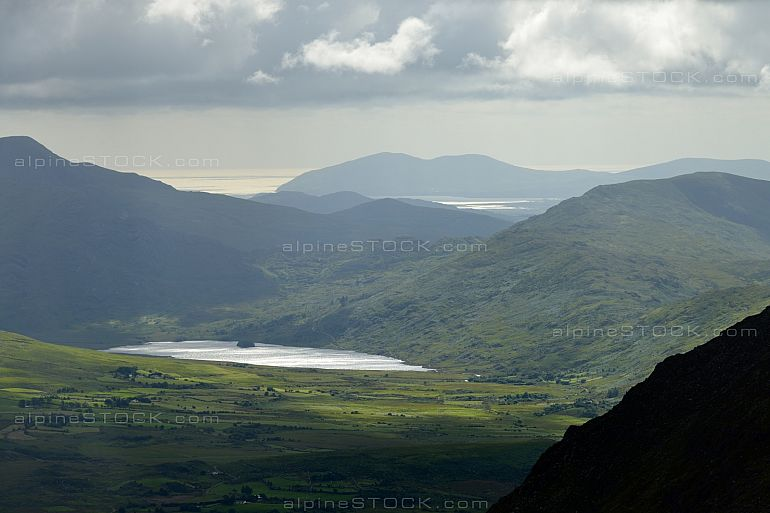 Lake with Sunspells near Carrauntoohil