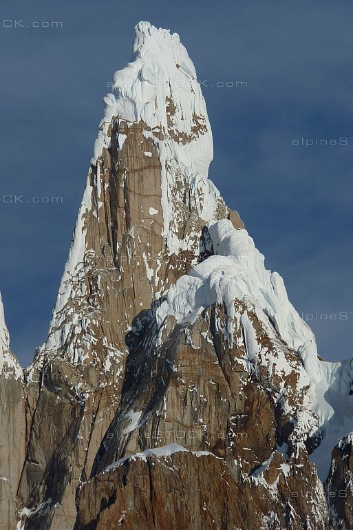 The magnificent upper west face of Cerro Torre
