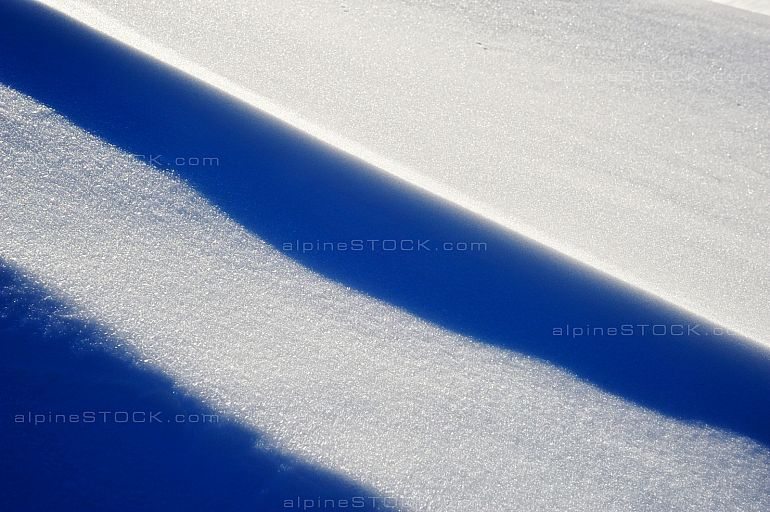 Abstract Snow Shapes Blue Shadow