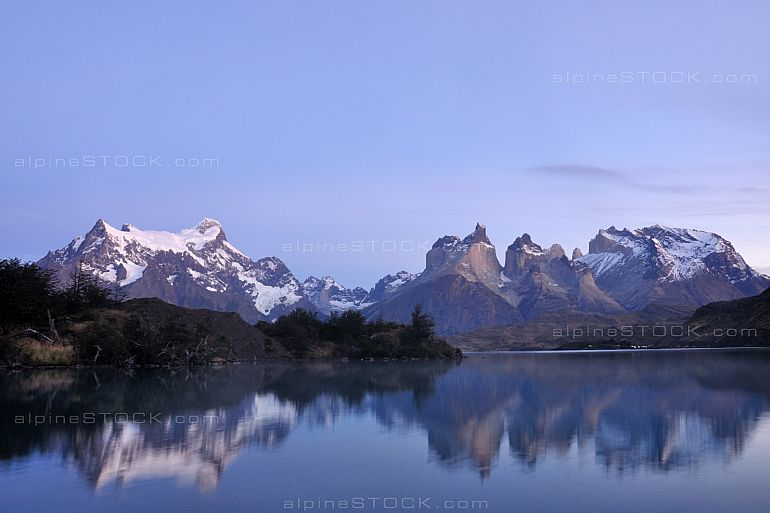 dawn at Torres del Paine national park, patagonia, Chile