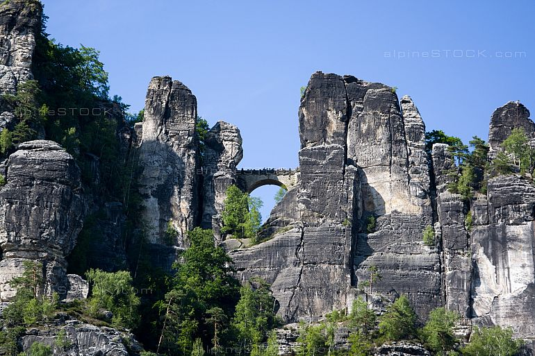 Stone Bridge at the Bastei, Elbesandstein Mountain, Germany