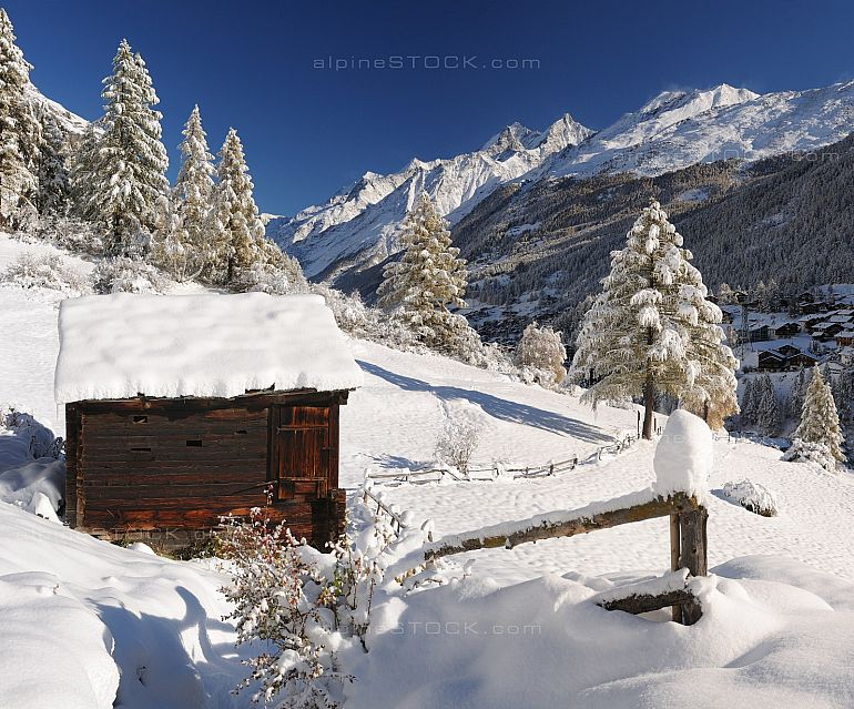 Winterlandschaft in Zermatt