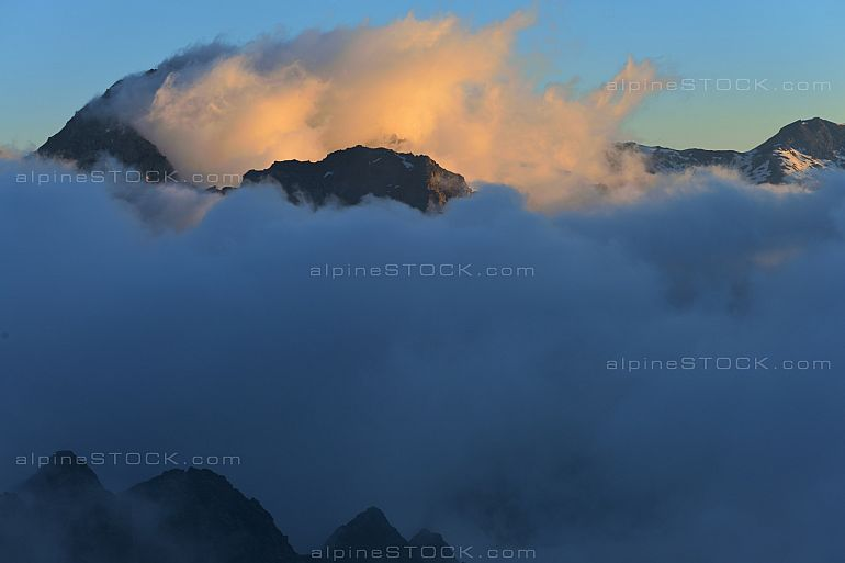 Aiguilles Rouges d Arolla Morning Cloud