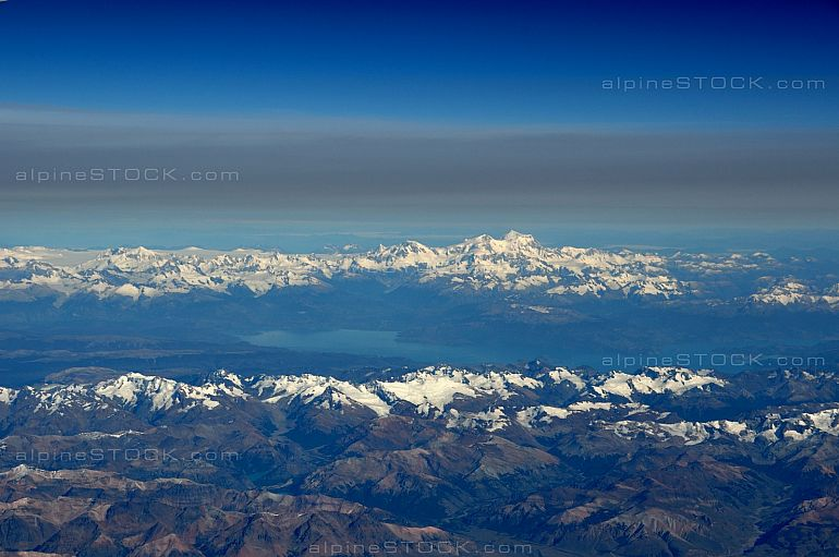 aerial view of patagonias highest peak, Monte San Valentin