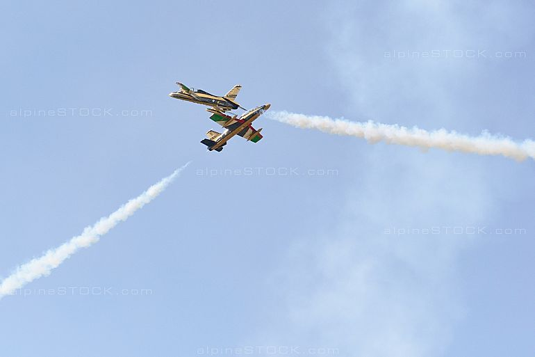 Al Fursan Aermacchi MB-339NAT Air14 Crossing Duo