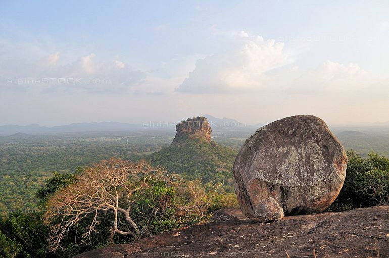 Sigiriya Rock Fortress view from Pidurangala
