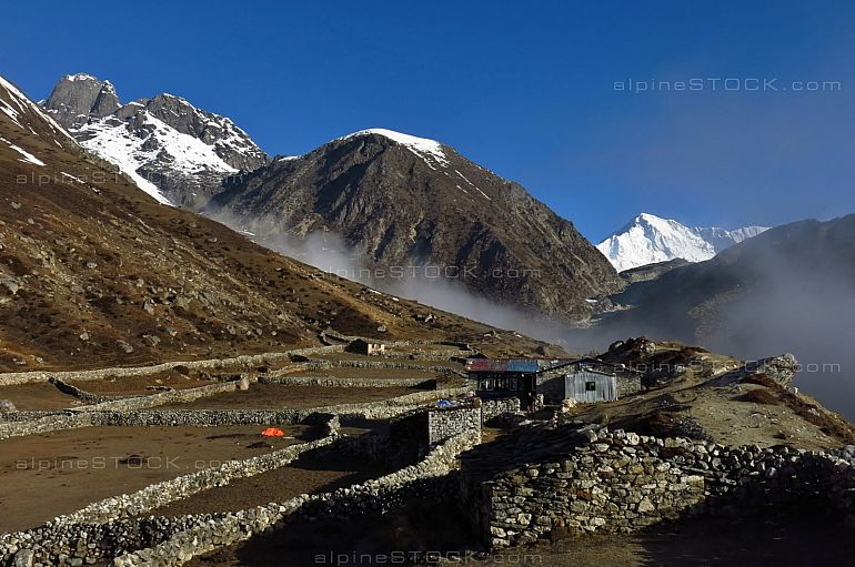 Beautiful landscape on the way to Gokyo