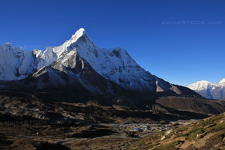 Snow capped Ama Dablam and Chukhung valley