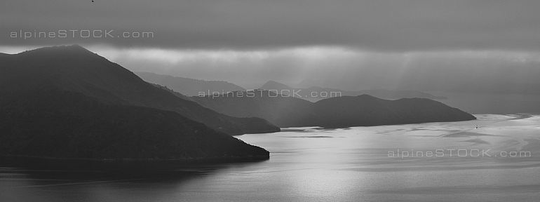 Fogy morning in the Marlborough Sounds