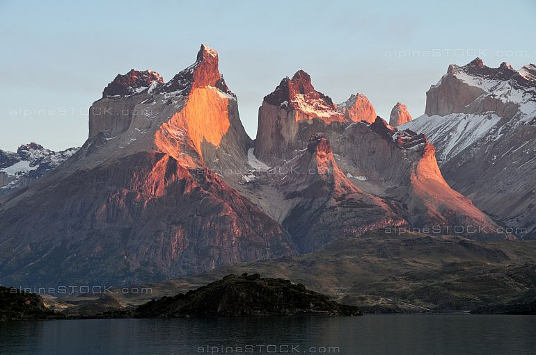 sun rise at Cuernos del Paine, Torres del Paine national park, Chile