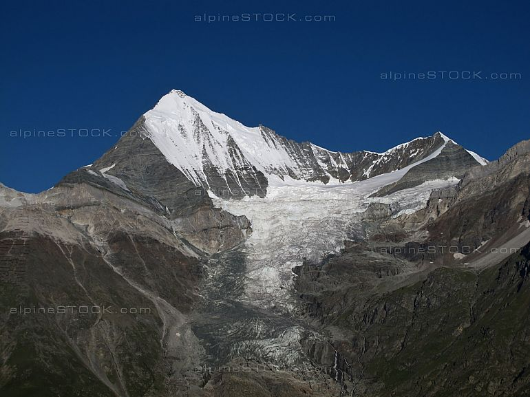 Weisshorn 4506 m and Bishorn