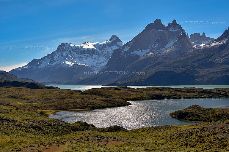 Lago Nordenskjold at Torres del Paine national park, patagonia, Chile