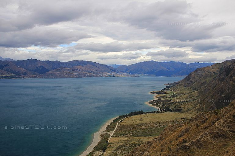 Lake Hawea, view from the Breast Hill track
