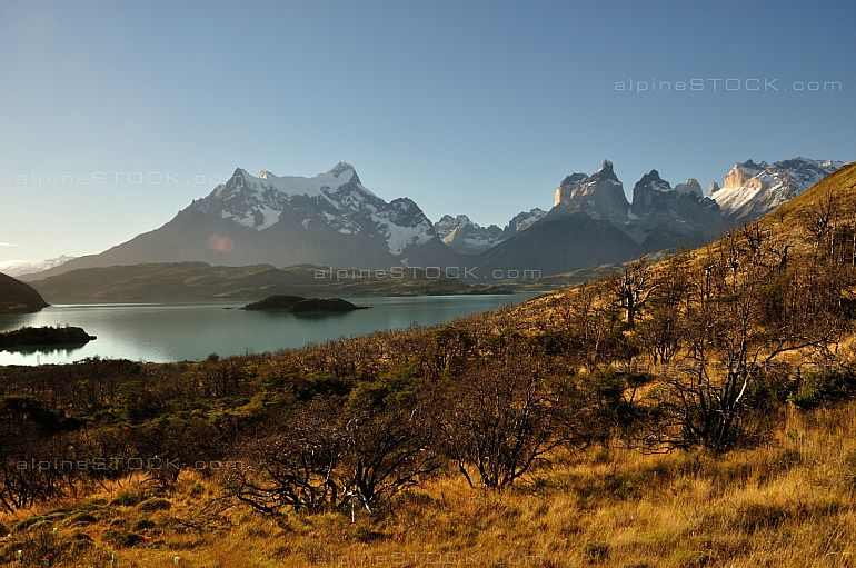 Autumn at Lago Pehoe, Torres del Paine national park, Chile