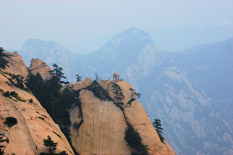 chess pavilion at mt hua shan, china