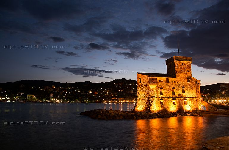 Castle at Rapallo, Liguria, Italy