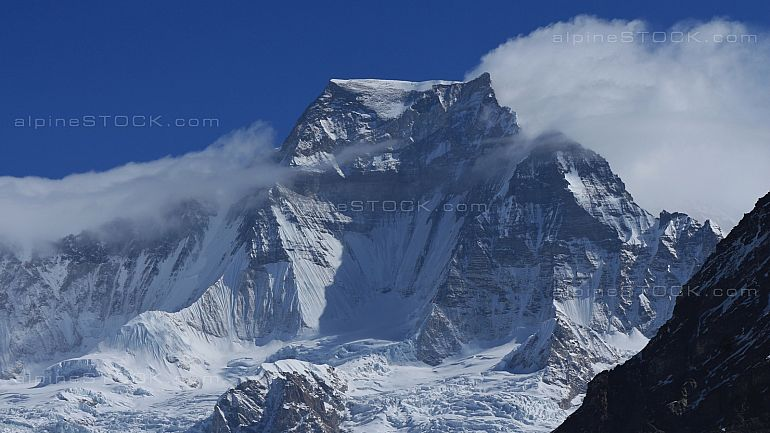 Tensing Peak, high mountain in the Everest National Park