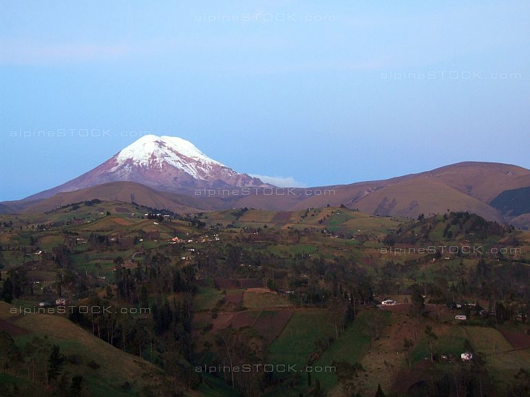 Mt. Chimborazo after sunset
