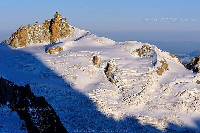 Aiguille du Midi Vallee Blanche Morgenlicht morning light