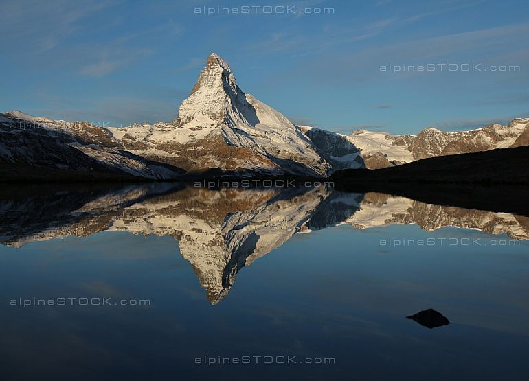 Matterhorn mirroring in lake Stellisee