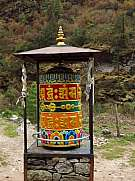 Big prayer wheel in Phakding, Everest Region
