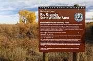 Rio Grande Wildlife Area Colorado USA Sign