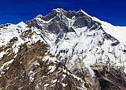 Mount Everest and Lhotse  from Amphulapcha pass