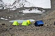 Tents in the mountains, basecamp