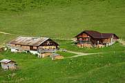 Old farm houses in the Swiss Alps near Gstaad