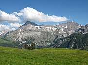 Summer landscape near Gstaad, Swiss Alps