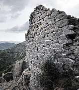 Rocca Sparviera ghost village  alpes maritimes wall