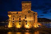 Burg in Rapallo, Ligurien, Italien