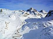 Julierpass Piz Julier Piz Albana Winter Luftbild