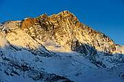 Weisshorn Gendarme W-Face evening light