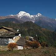 Landscape in the Annapurna Conservation Area Ghandruk