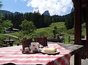 coffee break at the Brander Alm