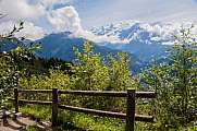 wooden fence against Mont Blanc massif