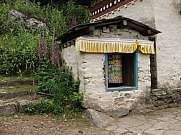 Sheltered prayer wheel in the Everest Region
