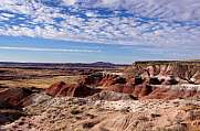 Landschaft im Petrified-Forest-National-Park, Arizona, USA