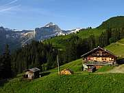 Farm house and Oldenhorn Bernese Oberland Gstaad