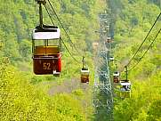 Cable car in forest Medvednica Zagreb