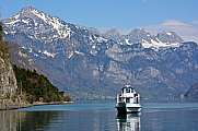 Boat on the Walensee