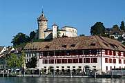 The old town of Schaffhausen and Munot fortress