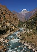 Kali Gandaki river and  Nilgiri